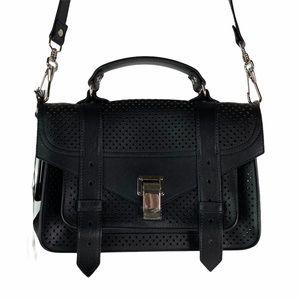 Proenza Schouler PS1Tiny Peforated Black Bag Purse
